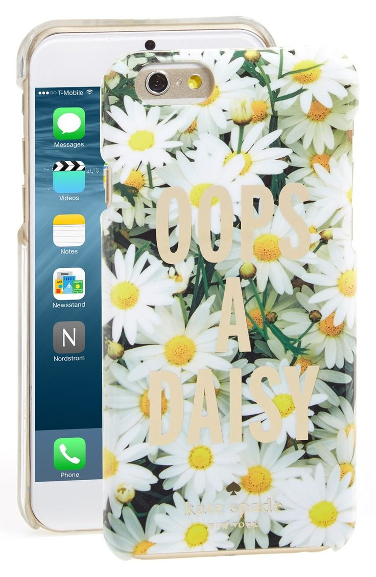 """""""Oops a daisy."""" This phone case from Kate Spade is a new favorite for spring!"""