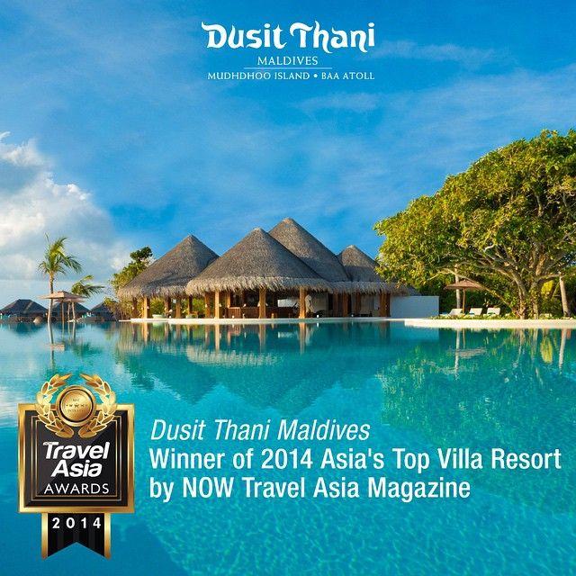 "Dusit Thani Maldives - the winner of ""2014 Asia's Top Villa Resort"" by NOW Travel Asia magazine. #Maldives #DusitThaniMV #DusitThani #award #top #villa #resort #best #vacation #destination #luxury #travel #winner"