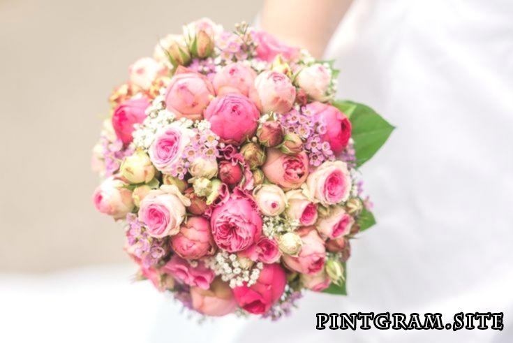 Brautstrauss In Altrosa Tonen Blumenstrauss Hochzeit Braut Blumen Brautstrausse