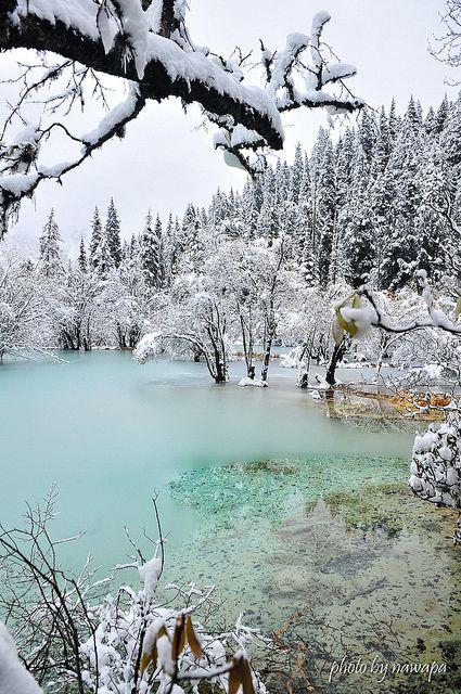 libutron:  Icy Blue | ©nawapa(Huanglong Scenic and Historic Interest Area, Songpan, Sichuan, China)