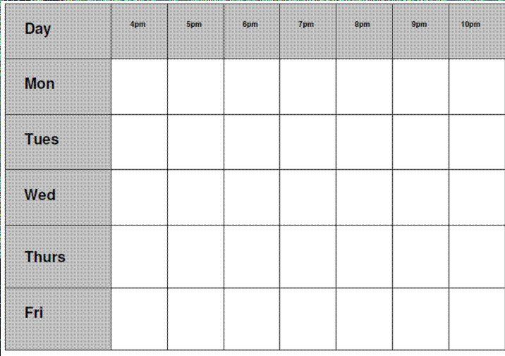 gcse revision timetable