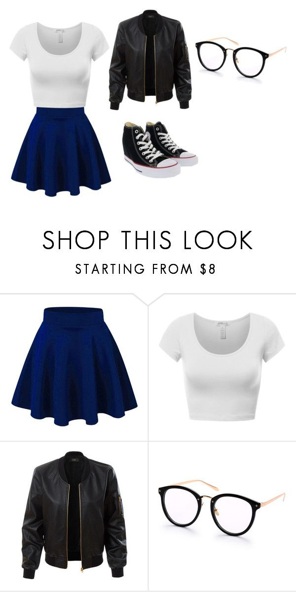 """""""outfit"""" by hjeanb on Polyvore featuring LE3NO and Converse"""