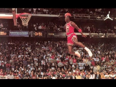 1988 NBA Slam Dunk Contest - Michael Jordan (HD) - YouTube