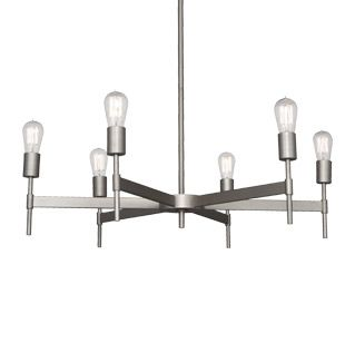 "Petriolo Chandelier by Robert Abbey. Lumens 33.75 in diameter 8"" high , 6"" canopy"