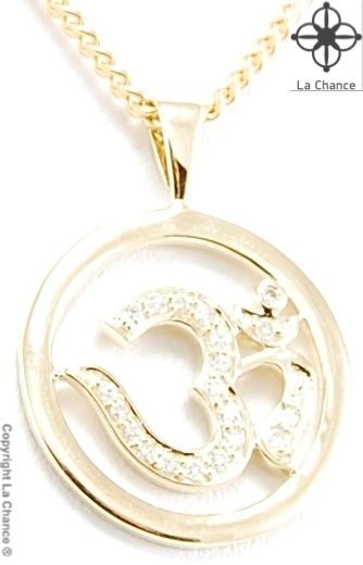 AUM pendant AUM by La Chance handmade 14kt gold and diamond pendant - www.lachance.dk