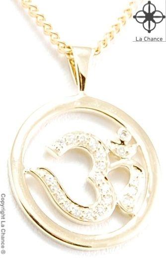 AUM pendant AUM by La Chance handmade 14kt gold and diamond pendant - www.lachance.dk