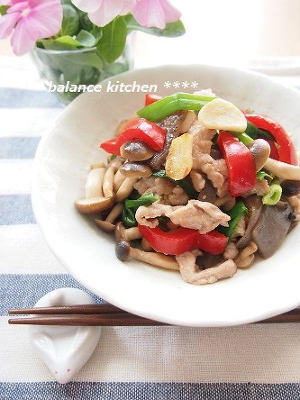 作り置き。豚肉とこんにゃくのガーリック麺つゆマリネ by 河埜 玲子 ...