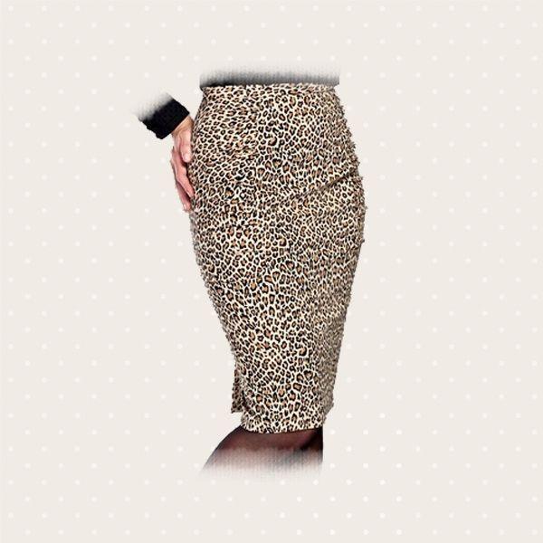 Gonna leopardata, in caldo cotone: aggressiva nell'impatto ma estremamente femminile e confortevole nella vestibilità