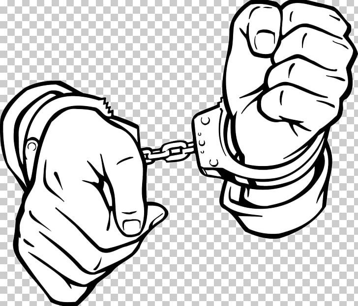 Handcuffs Computer File Png Black Black And White Bound Collar Handcuffs Constraint Handcuffs Drawing Handcuffs Drawing Reference