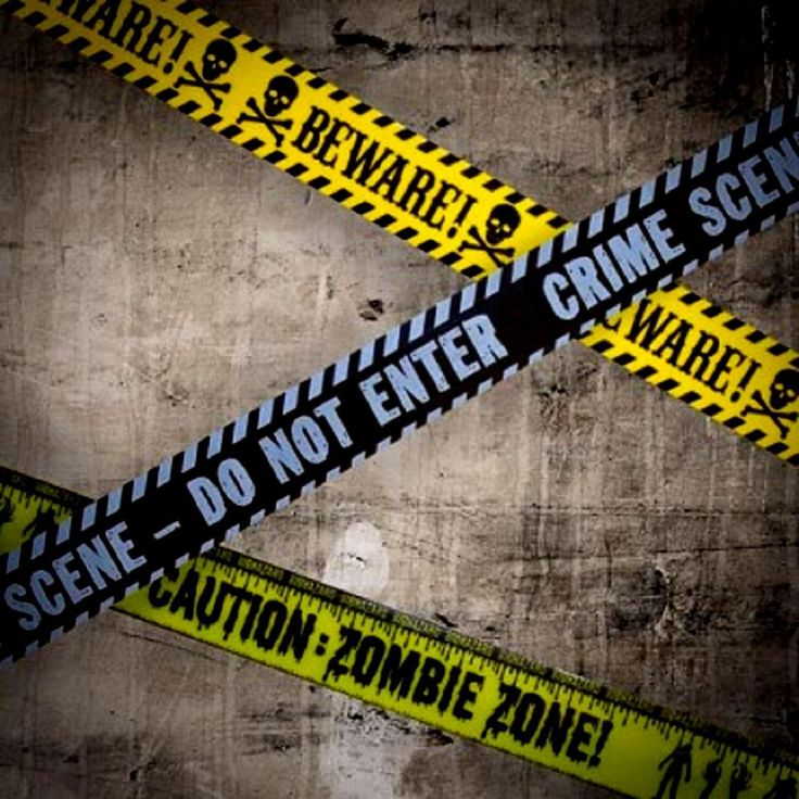 Caution Tape Decoration Halloween Party Trick Treat Haunted House Zombies Zone