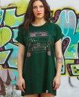 Camiseta 600 Verde Over Size, para llevarla como vestido.