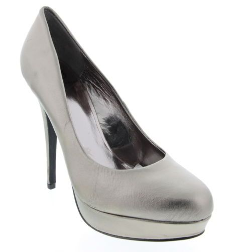 New With Box Women's KELSI DAGGER Pewter Metallic Pumps Stiletto Shoes Size 8.5