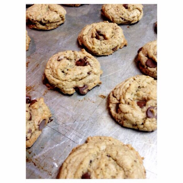 espresso chocolate chip cookies: recipe by the local forkful