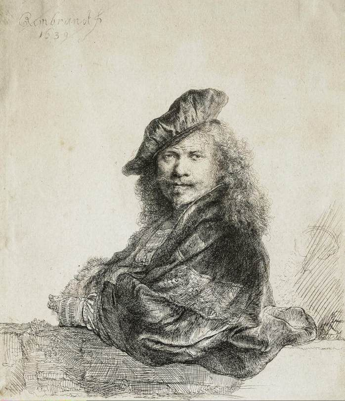Rembrandt Self-Portrait, 1639. Etching,