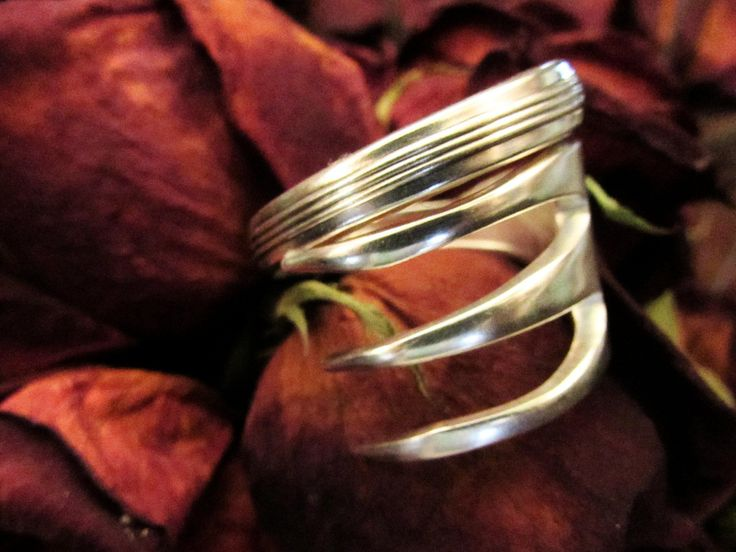 Fork ring.  Three tine Fork ring. Ring made from a vintage silver fork. by TheCraftyVision on Etsy