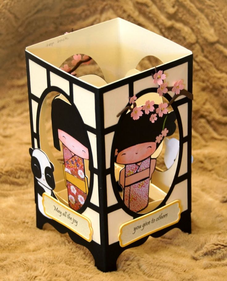 A Kokeshi Box Card for a Special Friend