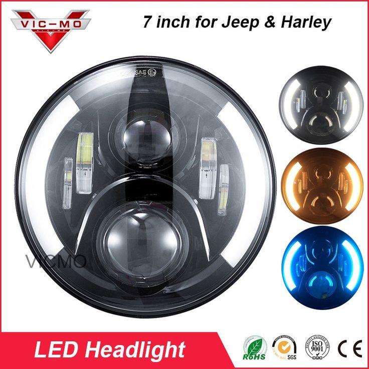 111.87$ Watch here - 60w <b>7 inch</b> round <b>led headlight</b> with DRL turn ...