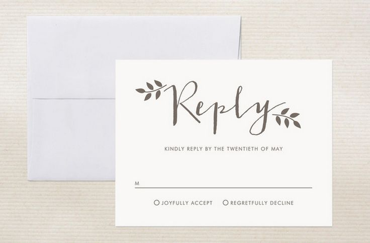 Ways To Word Your Rsvp Card Wedding Wording Words And Fonts