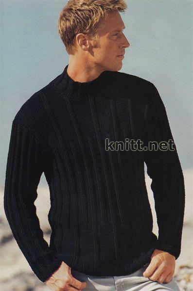 Схема мужского свитера связанная на спицах