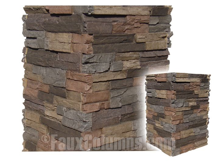 Exterior Faux Stone Columns : Faux stone columns make it easy to add style any