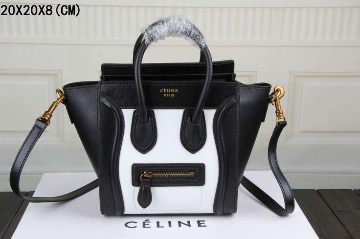 celine brown cotton travel bag