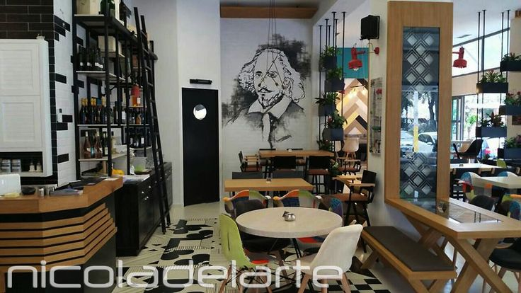 """Τοιχογραφία σε all day restaurant """" Locanda """" ( Ελευσίνα - Νομός Αττικής ) Wallpainting at all day restaurant """" Locanda """" ( Elefsina - Prefecture of Attiki ) Greece"""