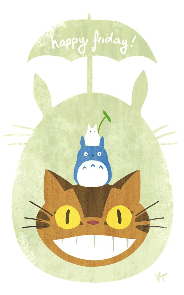 via tumblr   This is so cute, i love Totoro!
