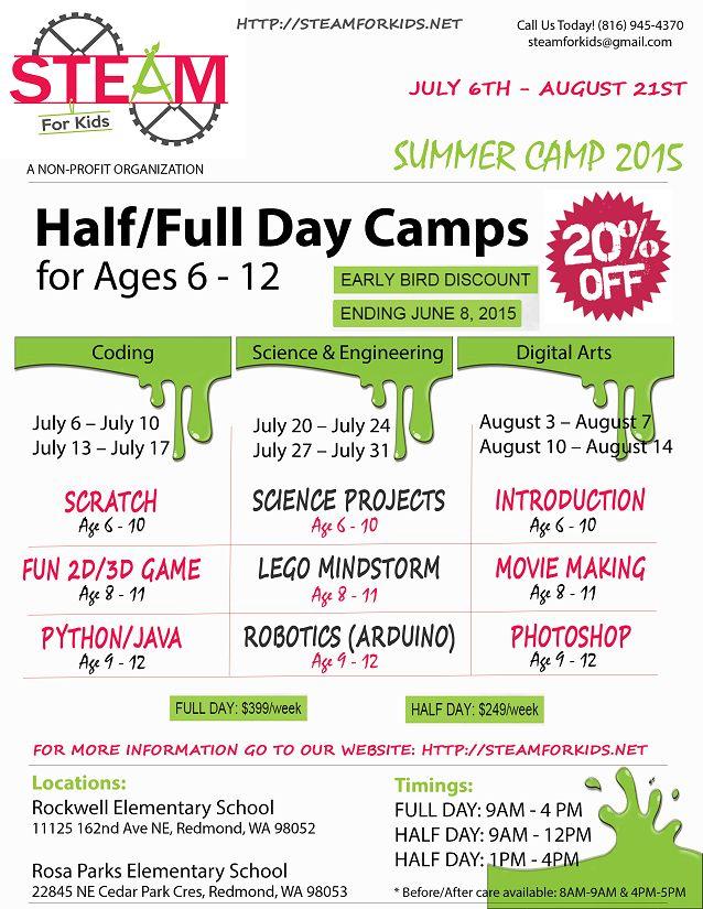 Best Summer Camp Flyer Inspiration Images On   Flyers