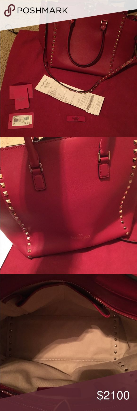 Valentino Rockstud Leather Double Handle Tote Purchased from Nordstrom. This authentic brand new Valentino bag with tags includes: proof of purchase, and dust bag! Date code: BS-G339BOL1. This pretty, Red Valentino shoulder bag is up for sale! **SORRY NO TRADES!!! Valentino Bags Shoulder Bags
