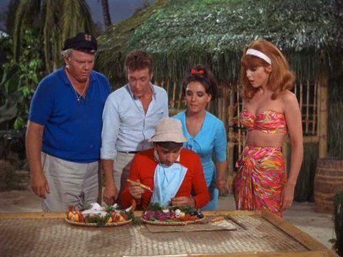 Bob Denver, Alan Hale Jr., Tina Louise, Russell Johnson, and Dawn Wells in Gilligan's Island (1964)