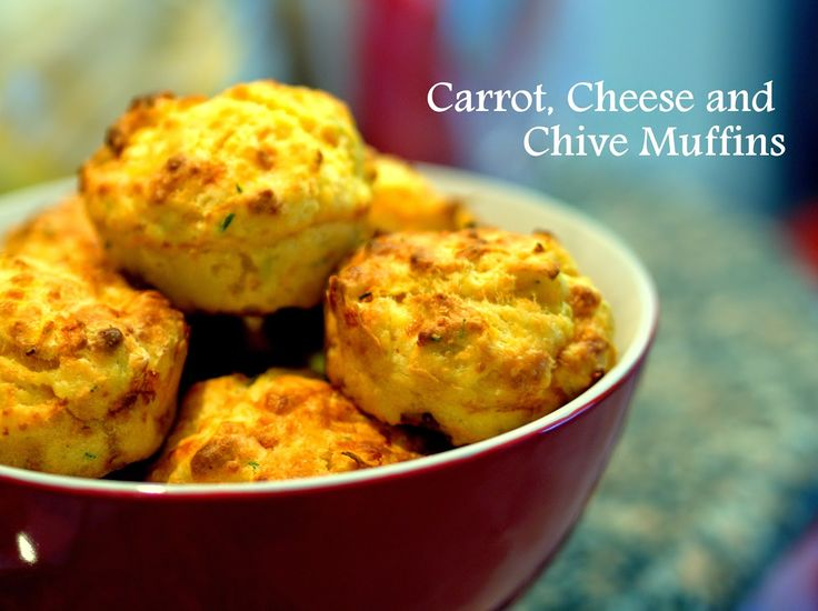 Carrot, cheese and chive muffins! Packed full of yumminess and ready to go!