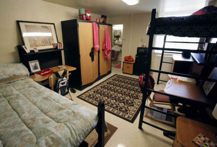 University of Oklahoma students have an option of living in a suite with two bedrooms and a common bathroom. This photo shows a model suite at Walker Tower in Norman. Photo by Steve Sisney, The Oklahoman ORG XMIT: KOD  STEVE SISNEY - THE OKLAHOMAN