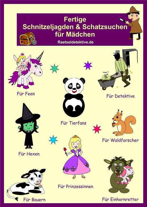 Schnitzeljagden Fur Madchen Kindergeburtstag Spiele Madchen Schnitzeljagd Kindergeburtstag Schatzsuche Kindergeburtstag