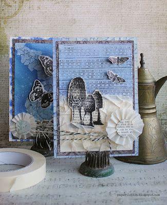 Masking tape cards by Riikka Kovasin for Craft Stamper