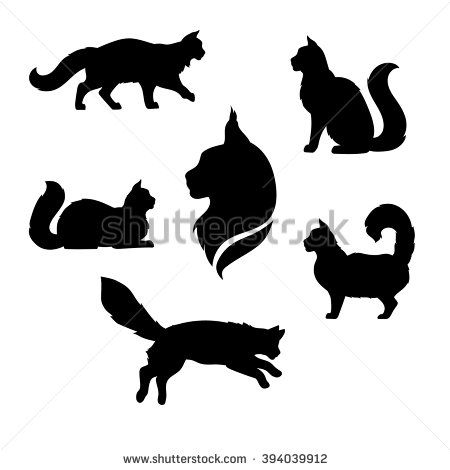 Image result for cat silhouette tattoo