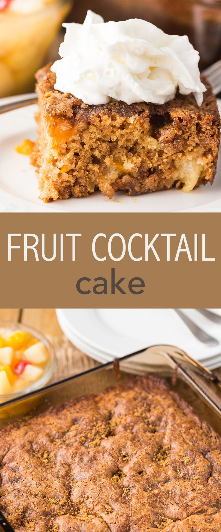 Maybe one of the easiest desert recipes to make, Fruit Cocktail Cake is my go-to when I'm time crunched or just don't feel like spending a ton of time ..