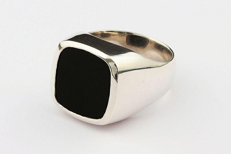 Ring | Siegelring | Onyx | Silber 925 | Herrenring von Schmuckbotschaften auf DaWanda.com
