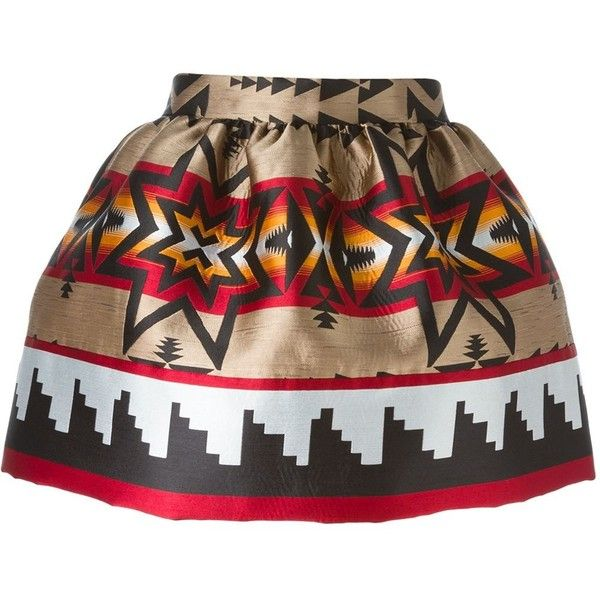 Dsquared2 Aztec Print Mini Skirt (744.005 CLP) ❤ liked on Polyvore featuring skirts, mini skirts, black, colorful skirts, aztec skirt, high rise skirts, high waisted skirts and short skirts