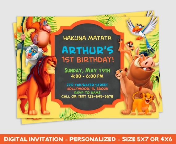 The Lion King Invitation The Lion King Party The Lion King Birthday The Lion King Invite The Li Lion King Birthday Lion King Party Lion King Invitation
