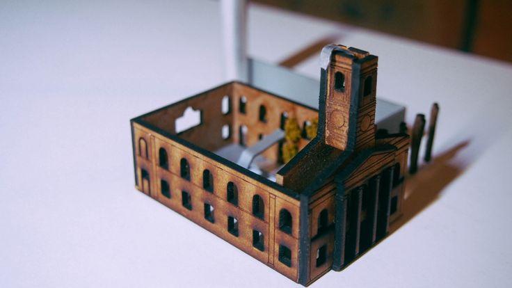 CONCEPT Model :-19th C church and recon steel. matjgreenwoodarchi.t