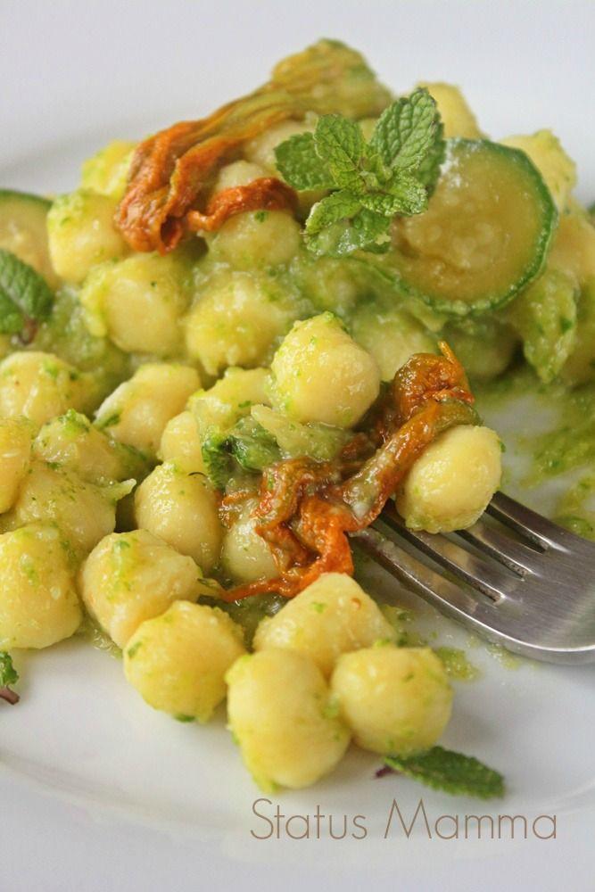 Chicche di patate in crema di zucchine al profumo di menta | Status mamma
