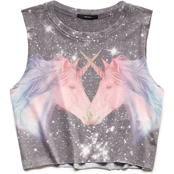 FOREVER 21 Galaxy Unicorn Muscle Tee and other apparel, accessories and trends. Browse and shop 12 related looks.