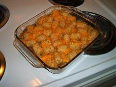 Weight watchers Tater Tot casserole... Truly my favorite ww meal of all times!