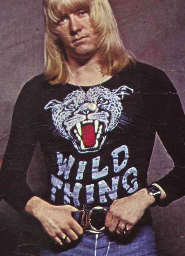 Brian Connolly in a Wild Thing t-shirt. As also worn by Tim Brooke-Taylor in a Goodies episode!