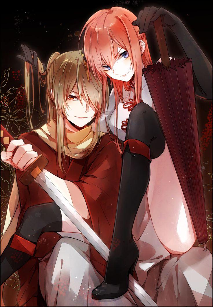 Gintama. Okita Sougo & Kagura