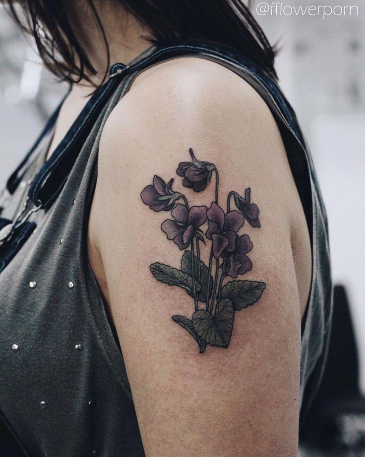 Violet Flower Tattoo Designs: 50 Best Violet Tattoo Images On Pinterest
