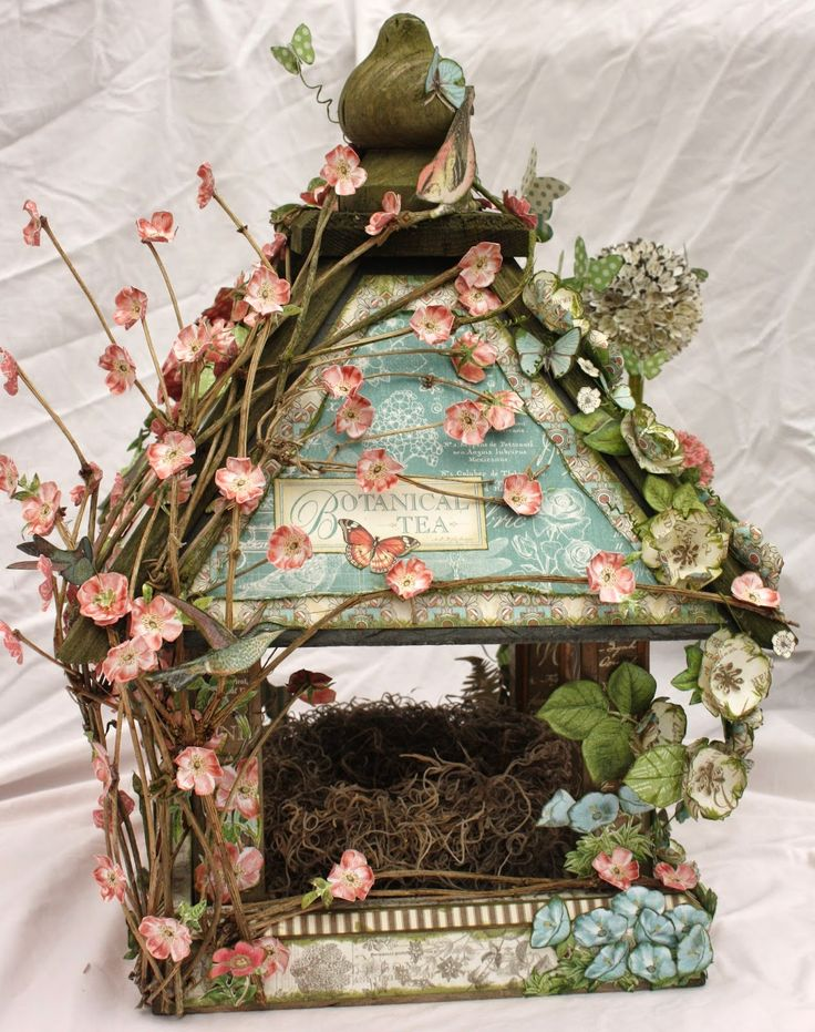 Arty-Forty: Botanical Tea Birdhouse