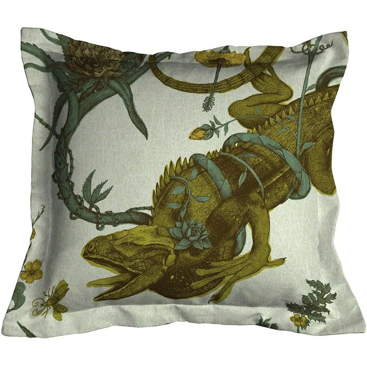 Timorous Beasties Iguana Cushion Multi