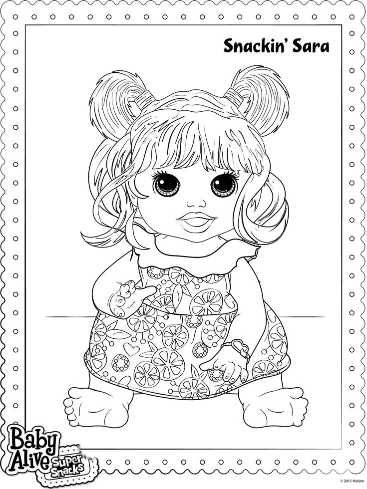 snacking sara baby alive coloring pages  k5 worksheets