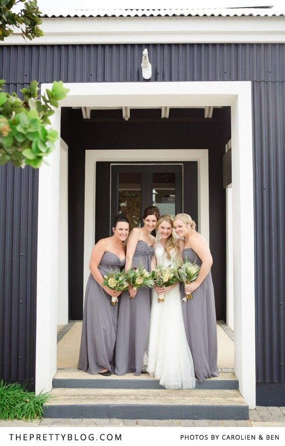 Bridesmaids dresses from Bride&co | Click to view Jenni & Hendrik's Dreamy Seaside Wedding Day featured on The Pretty Blog